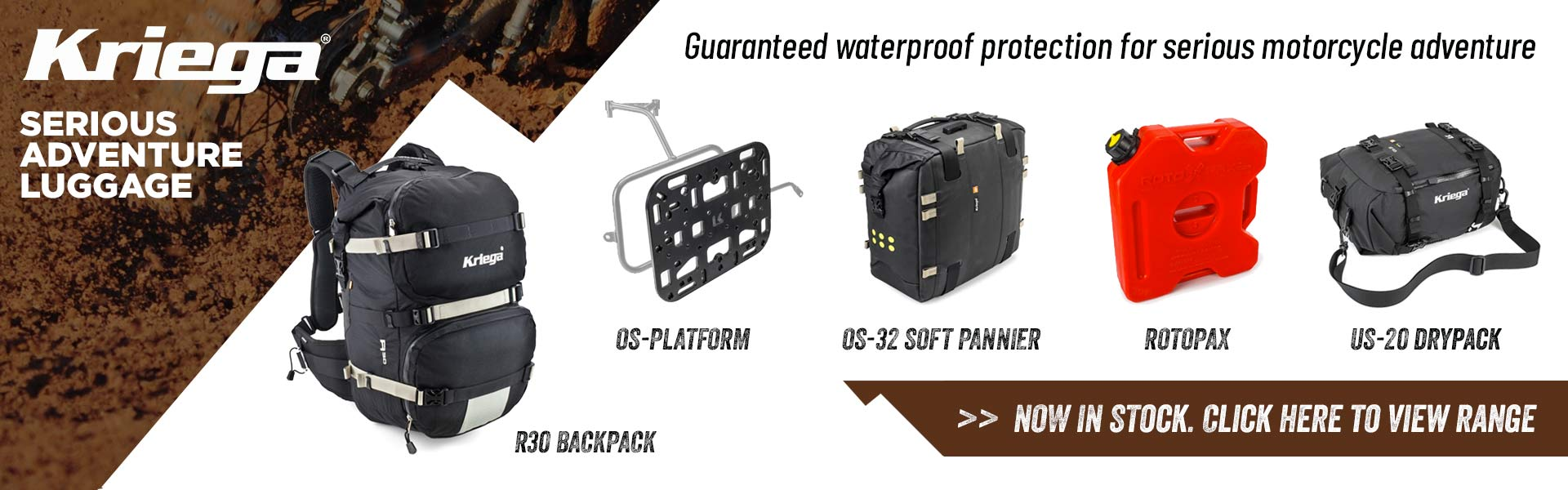 Kriega waterproof protection