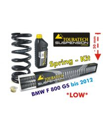 Height lowering kit. 50 mm. BMW F800GS up to 2012 replacement springs*replacement springs*