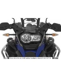 Set of LED auxiliary headlights fog right/full beam headlight left for BMW R1200GS Adventure from 2014. black