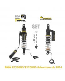 Touratech Suspension-SET Plug & Travel -40mm lowering for BMW R1200GS/R1250GS Adventure from 2014