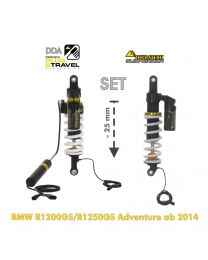 Touratech Suspension-SET Plug & Travel -25mm lowering for BMW R1200GS/R1250GS Adventure  from 2014