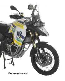 Large front tank for BMW F800GS (from 2013). black