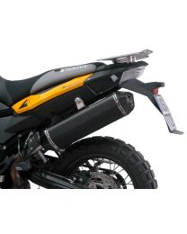 AC Schnitzer Stealth rear silencer. black. street legal. for BMW F800GS / F800GS-ADV / F700GS from 2017