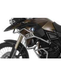 Stainless steel crash bar extension for BMW F700GS. F800GS 2013 onwards