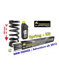 Height lowering kit. 50mm. for BMW F800GS / Adventure from 2013 replacement springs