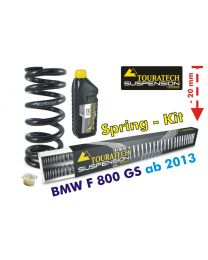 Height lowering kit. 20mm. for BMW F800GS / Adventure *from 2013**replacement springs*