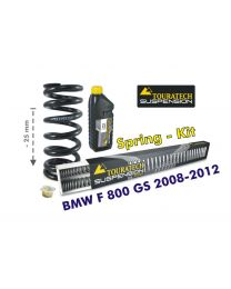 Height lowering kit. 25mm. for BMW F800GS 2008-2012 replacement springs