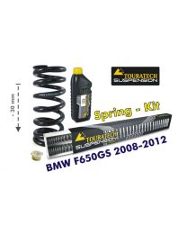 Height lowering kit. 30mm. for BMW F650GS (TWIN) 2008-2012 replacement springs