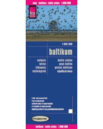 Map Reise-Know-How publishing house Baltics 1:600.000