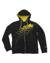 "Sweat jacket ""Triangle"" men. black size:s"