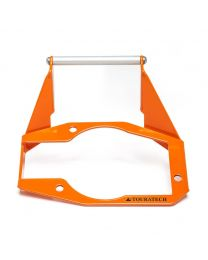 GPS mounting adapter above instruments. orange. for KTM 1050 Adventure/ 1090 Adventure/ 1190 Adventure/ 1190 Adventure R