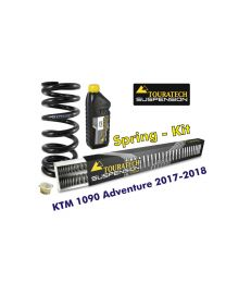 Progressive replacement springs for fork and shock absorber. KTM 1090 Adventure 2017-2018 replacement springs