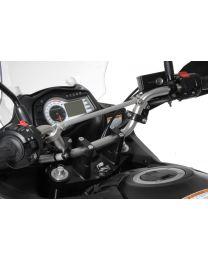 Handlebar extension. 30 mm. Type 3. black. for Suzuki DL 650/V-Strom 650/DL1000. KTM LC4