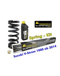 Progressive replacement springs for fork and shock absorber. Suzuki V-Strom 1000 from 2014