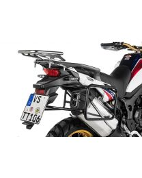 Stainless steel pannier rack. black for Honda CRF1000L Africa Twin (2015-2017)