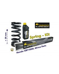 Progressive front and rear replacement springs for the Honda CRF1000L Africa Twin (2015-2017) +20mm height / Offroad Travel