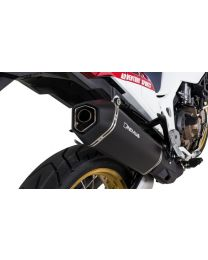 Remus Okami stainless steel silencer. black for Honda CRF1000L Africa Twin (2018-)/ CRF1000L Adventure Sports. slip-on with ABE