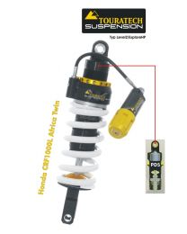 Touratech Suspension shock absorber for Honda CRF1000L Africa Twin (2015-2017) Type Explore HP/PDS