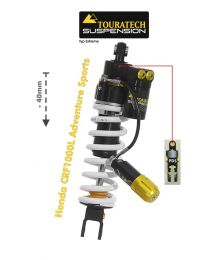 Touratech Suspension lowering shock (-40mm) for Honda CRF1000L Adventure Sports from 2018 Type Extreme