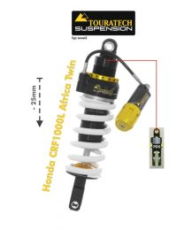 Touratech Suspension lowering shock (-25 mm) for Honda CRF1000L Africa Twin from 2018 Type Explore HP/PDS