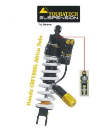 Touratech Suspension shock absorber for Honda CRF1000L Africa Twin (2015-2017) type Extreme