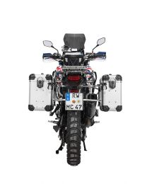 "ZEGA Evo aluminium pannier system ""And-S"" 31/38 litres with stainless steel rack for Honda CRF1000L Africa Twin (2015-2017)"