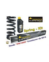 Progressive replacement springs for fork and shock absorber. Honda VFR1200X Crosstourer from 2012