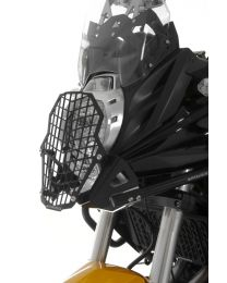 Stainless steel black headlight protector with quick release fastener for Crash bar (01-408-5155-0) Kawasaki Versys 650 (2012-2014)
