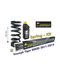 Height lowering kit. 50mm. for Triumph Tiger 800XC 2011-2015 *replacement springs*