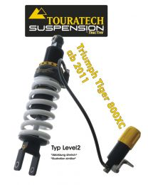 Touratech Suspension shock absorber for Triumph Tiger 800 XC (2011-2014) type Level2/ExploreHP