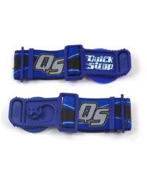 Goggle attachment QUICK STRAPS  for Enduro helmet. blue
