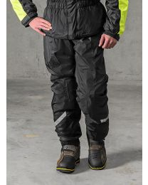 Rain trousers with membrane. black size:s