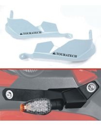 Hand protectors for Ducati Multistrada 1200 up to 2014 *white* for original handlebar – supplied with LED indicator set