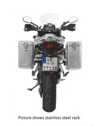 ZEGA Mundo aluminium pannier system 31/31 litres with stainless steel rack black for Ducati Multistrada up to 2014