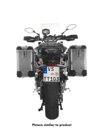 ZEGA Pro aluminium pannier system 31/31 litres with stainless steel rack for Yamaha MT-09 Tracer (2015-2017)