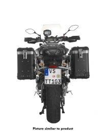 """ZEGA Pro aluminium pannier system """"And-Black"""" 31/31 litres with stainless steel rack for Yamaha MT-09 Tracer (2015-2017)"""