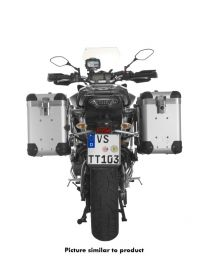 """ZEGA Pro aluminium pannier system """"And-S"""" 38/38 litres with stainless steel rack for Yamaha MT-09 Tracer (2015-2017)"""