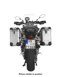 """ZEGA Pro aluminium pannier system """"And-S"""" 31/31 litres with stainless steel rack black for Yamaha MT-09 Tracer (2015-2017)"""