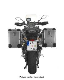 ZEGA Pro aluminium pannier system 38/38 litres with stainless steel rack black for Yamaha MT-09 Tracer (2015-2017)