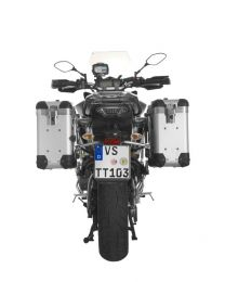 """ZEGA Pro2 aluminium pannier system """"And-S"""" 31/31 litres with stainless steel rack for Yamaha MT-09 Tracer (2015-2017)"""