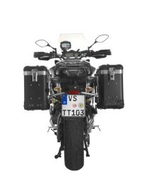"""ZEGA Pro2 aluminium pannier system """"And-Black"""" 31/31 litres with stainless steel rack for Yamaha MT-09 Tracer (2015-2017)"""
