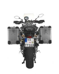 ZEGA Pro2 aluminium pannier system 38/38 litres with stainless steel rack for Yamaha MT-09 Tracer (2015-2017)