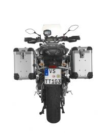 """ZEGA Pro2 aluminium pannier system """"And-S"""" 38/38 litres with stainless steel rack for Yamaha MT-09 Tracer (2015-2017)"""