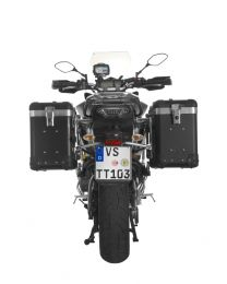 """ZEGA Pro2 aluminium pannier system """"And-Black"""" 38/38 litres with stainless steel rack for Yamaha MT-09 Tracer (2015-2017)"""