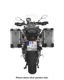 ZEGA Pro2 aluminium pannier system 31/31 litres with stainless steel rack black for Yamaha MT-09 Tracer (2015-2017)