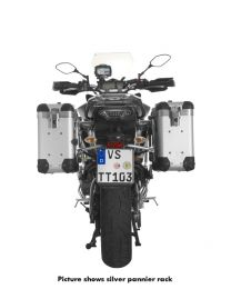 """ZEGA Pro2 aluminium pannier system """"And-S"""" 31/31 litres with stainless steel rack black for Yamaha MT-09 Tracer (2015-2017)"""