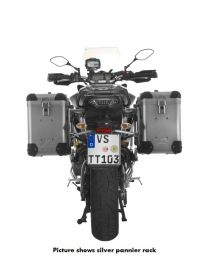 ZEGA Pro2 aluminium pannier system 38/38 litres with stainless steel rack black for Yamaha MT-09 Tracer (2015-2017)
