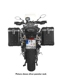 """ZEGA Pro2 aluminium pannier system """"And-Black"""" 38/38 litres with stainless steel rack black for Yamaha MT-09 Tracer (2015-2017)"""