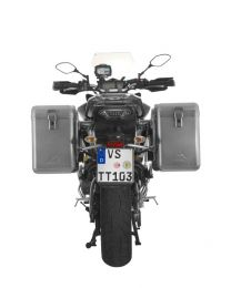 ZEGA Mundo aluminium pannier system 38/38 litres with stainless steel rack for Yamaha MT-09 Tracer (2015-2017)