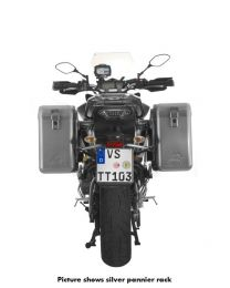 ZEGA Mundo aluminium pannier system 31/31 litres with stainless steel rack black for Yamaha MT-09 Tracer (2015-2017)